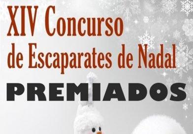 Premiados XIV Concurso de Escaparates de Nadal